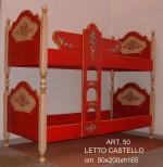 LETTO CAST. ROSSO 50
